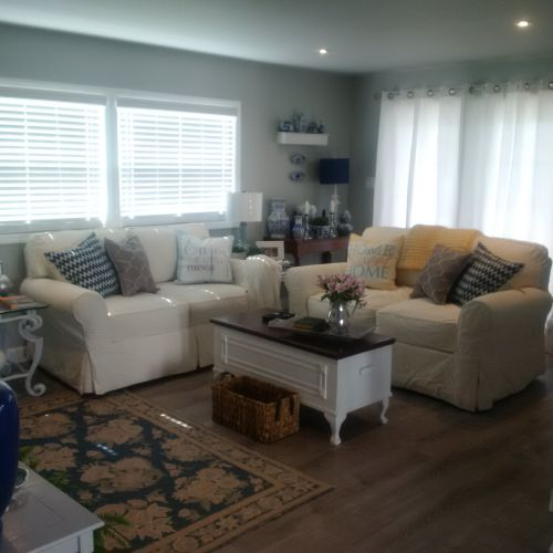 $45,000 manufactured home renovation -  living room after