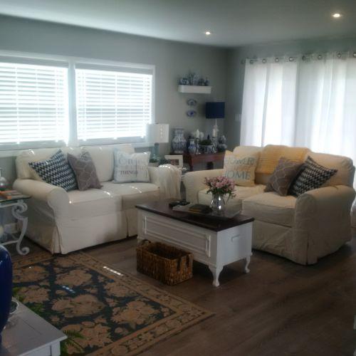 $45,000 manufactured home renovation -  living room after