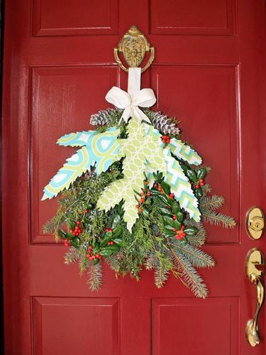 DIY Christmas decor projects-swag