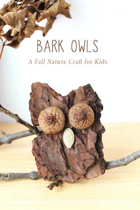 Cheap DIY Fall Decorating Ideas - Bark-Owls