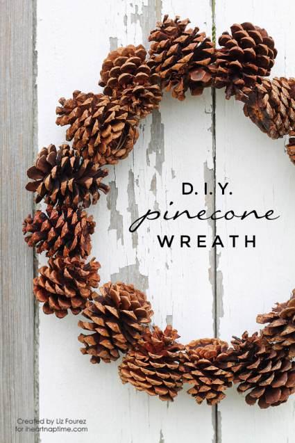 DIY-Pinecone-Wreath-Cheap DIY Christmas Decorations