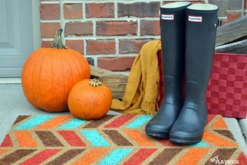 DIY door mat project - DIY Fall decorating ideas