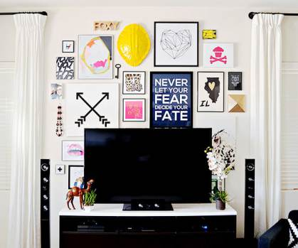 DIY wall art - gallery wall ideas