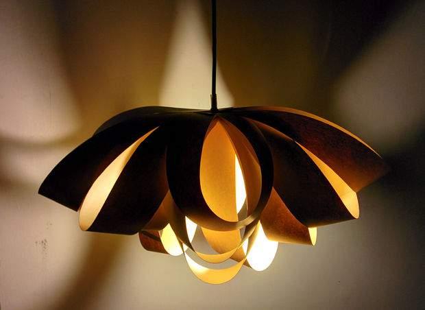 Decorative Bow Ceiling Light DIY tutorial