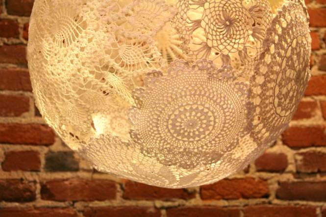Doiley Light Pendant - DIY lights you can make