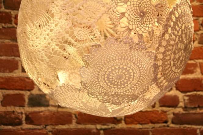 Doiley Light Pendant - DIY lights you can make
