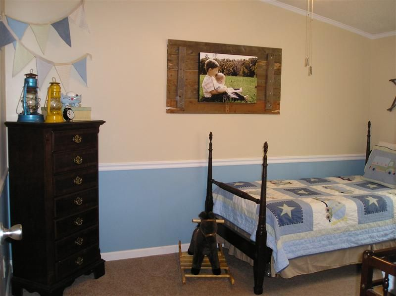 Double wide manufactured bedroom after makeover - homesteading_