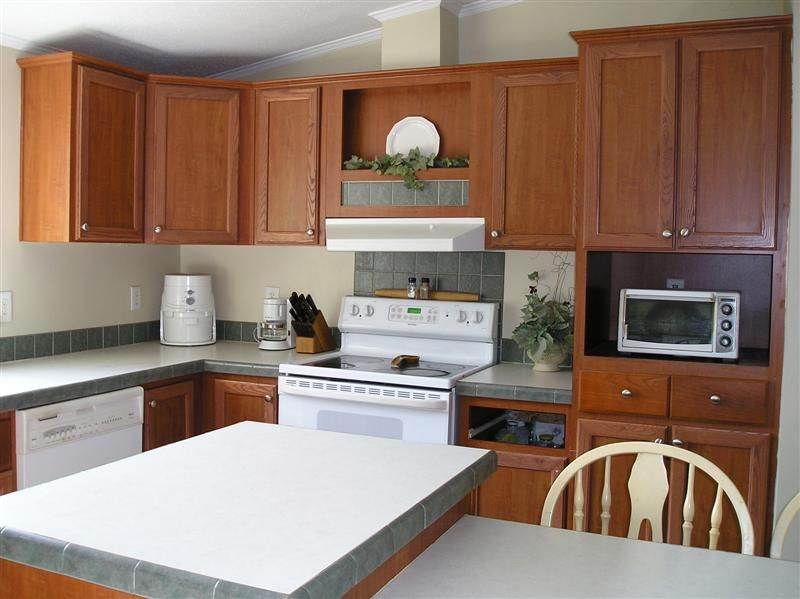 Double wide manufactured home kitchen after makeover 2 - homesteading_
