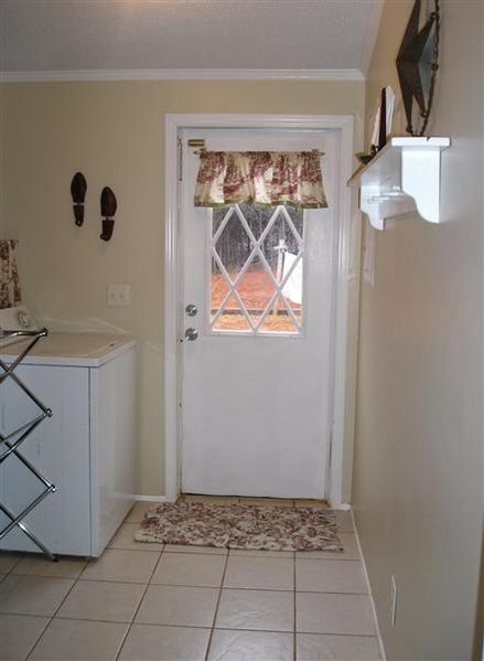 Double wide manufactured home laundry room after makeover - homesteading_