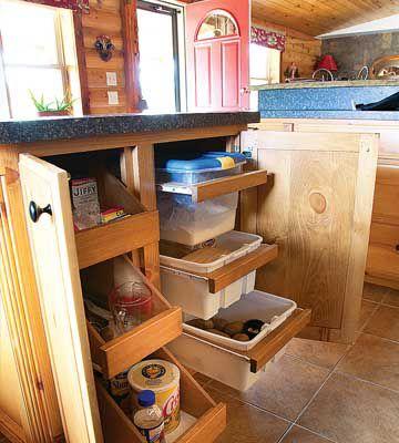 Down-home-on-the-range-cabin kitchen cabinet organization_c