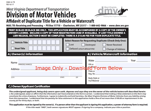 buying a mobile home in west virginia-Duplicate title form image