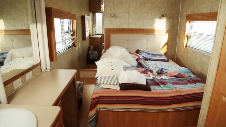Ellen Pompeo Trailer - Bedroom Before Camper Makeover