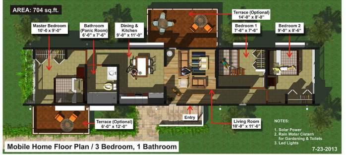 Evergreen Eco Homes - detailed floorplan 3 bdrm