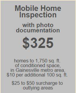 Example of manufactured home inspection pricing