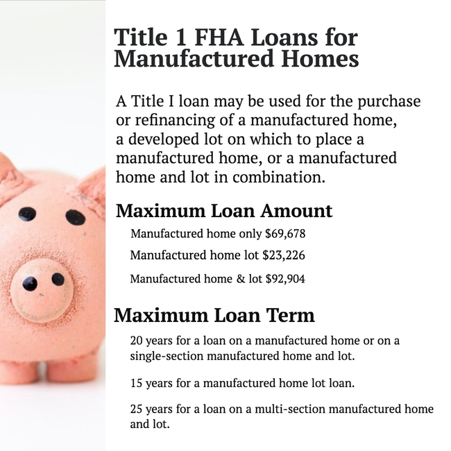 FHA Loans and other manufactured home financing options0000