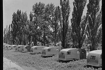 FSA (Farm Security Administration) trailer camp for defense workers a quarter mile from General Electric plant in Erie PA  June 41 Library of congress
