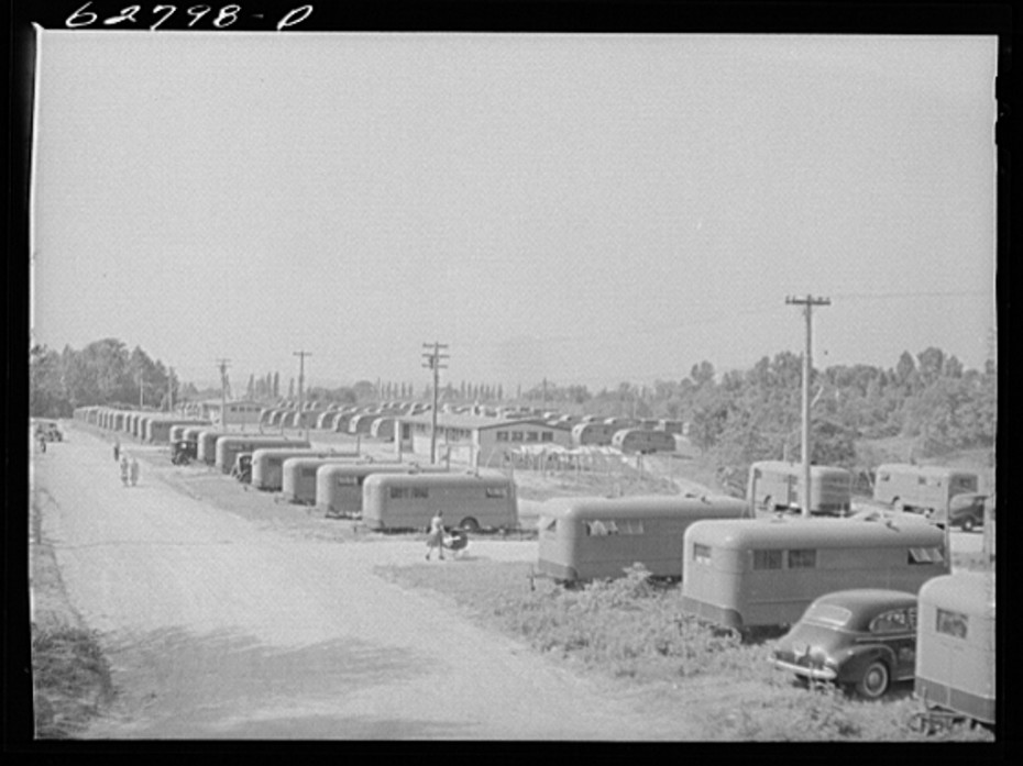 FSA trailer camp at Erie PA 200 family units of housing for defense workers in the General Electric plant - June 1941 LOC