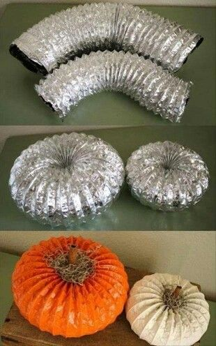 Fall decorating ideas you can actually afford - dryer vent house pumpkin