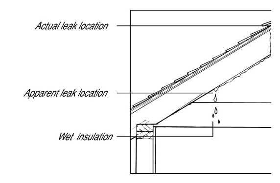 find and repair leaks on mobile home roofs - shingled roof leak detection