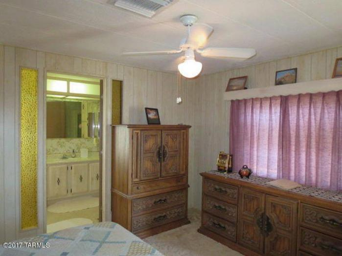 Favorite Classic Mobile Home Models of Mobile Home Experts - Fleetwood Festival - Single Wide Master Bedroom Looking into Master Bathroom 2