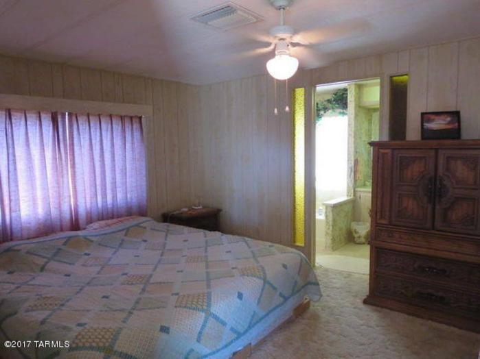 Favorite Classic Mobile Home Models of Mobile Home Experts- Fleetwood Festival Single Wide Master Bedroom Looking into Master Bathroom