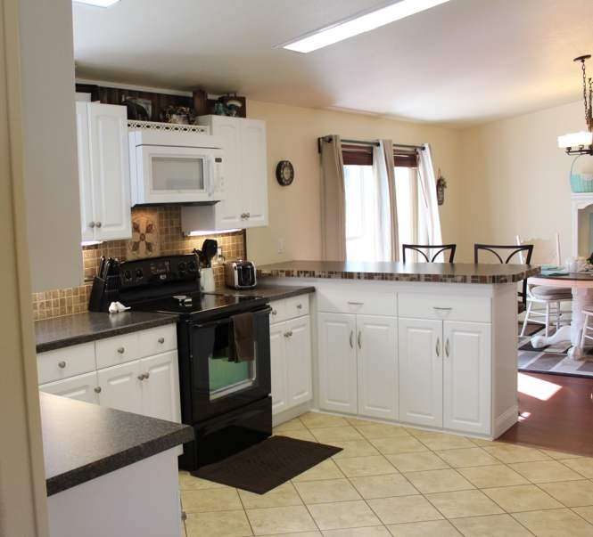 Fleetwood Manufactured Home Makeover (kitchen 2)
