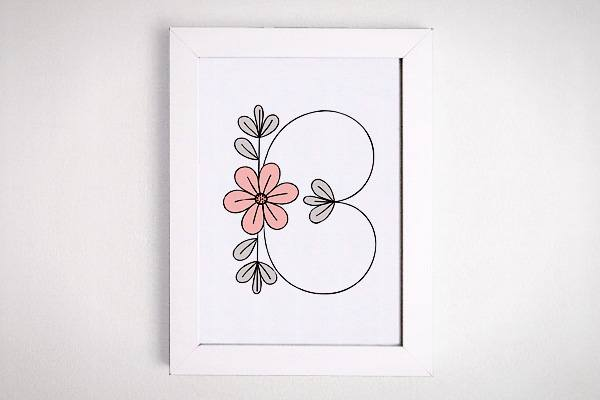Luxury Free Flower Initial Printable Wall Art on a Budget