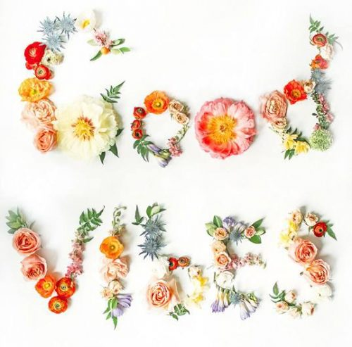 Free Good Vibes Floral Printable - cheap wall art