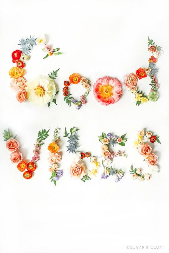 Free Good Vibes Floral Printable   Cheap Wall Art