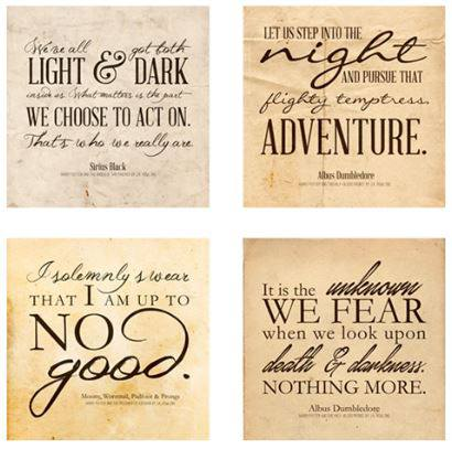 Free harry potter quotes printables - make wall art on a budget