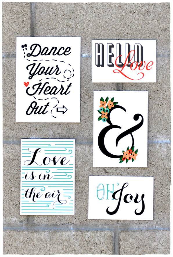 Lovely Free Modern Bold Printables wall art of a budget