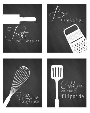 Free Simple Modern Kitchen Printables - Affordable wall art ideas