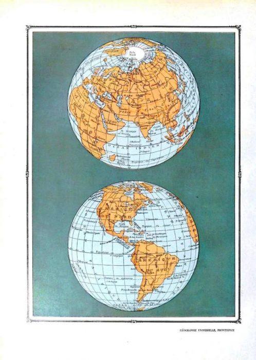Free map globe wall art printable