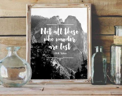 Free not all those who wonder all lost printable - wall art on a budget
