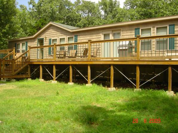 Manufactured Home Before Log Siding and Cabin Decor Makeover
