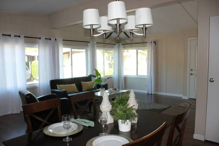 Fully remodeled manufactured home in san fran - dining room 2