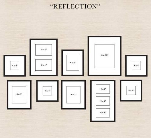 Gallery wall template - reflection - diy wall art