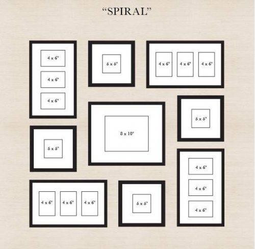 Gallery wall template - spiral - DIY wall Art