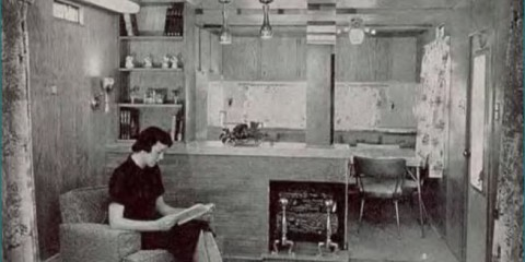 Geer Mobile Home Kitchen Sept 1959