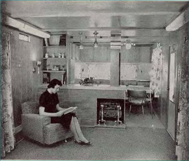 geer mobile home kitchen 1959 - 1959 Home Design