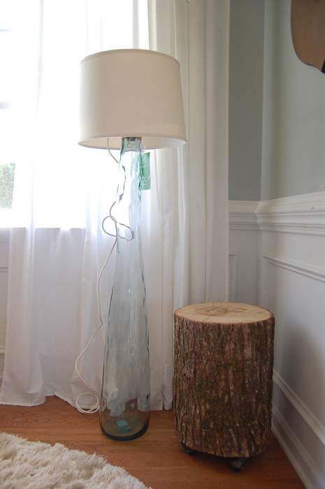 Glass DIY Floor Lamp