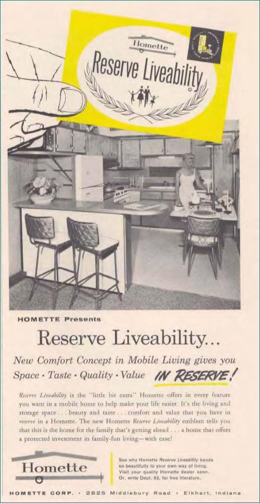 Homette Mobile Home 1960 ad