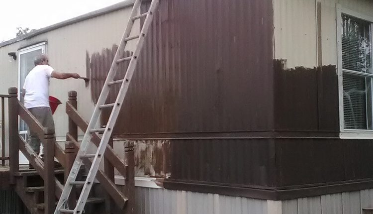 How to Paint Metal Siding on a Mobile Home - Day 2