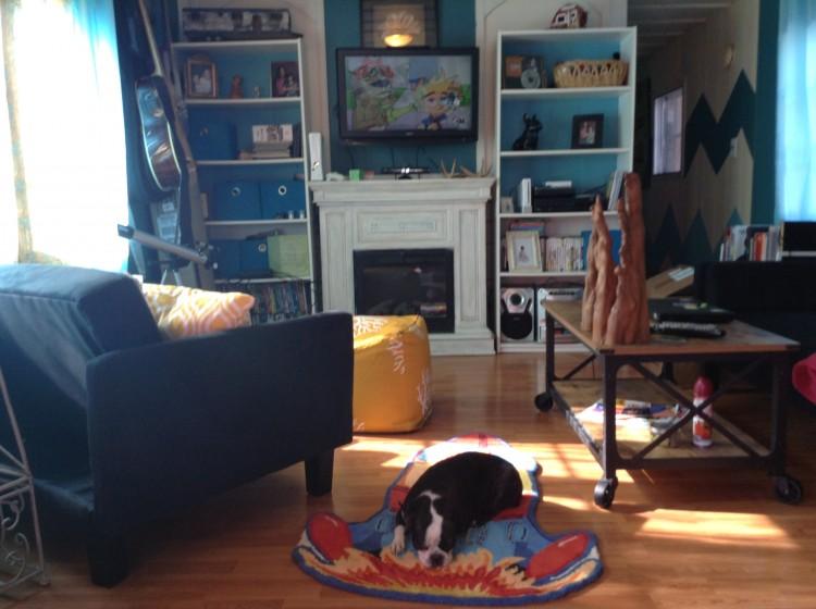 living room after makeover