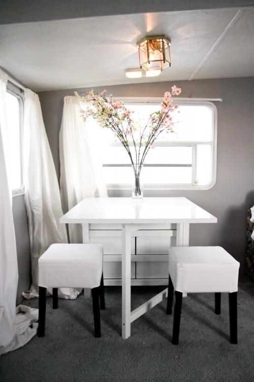 Modern Camper Makeover Dining Room