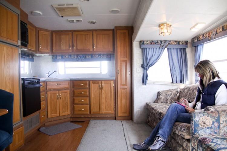 modern RV camper before makeover