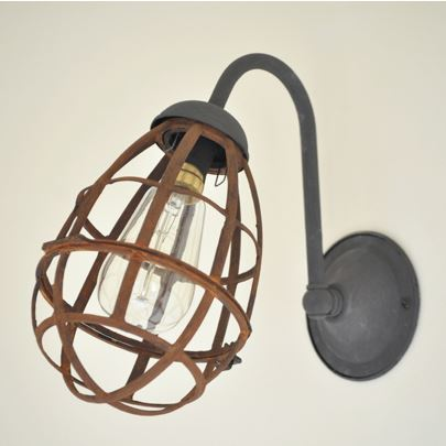 Industrial wall sconce light makeover