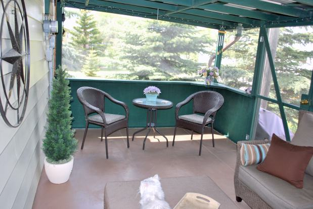 Inside screened porch - 1978 manufactured home remodel