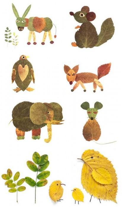 Leaf animals - diy fall decor ideas
