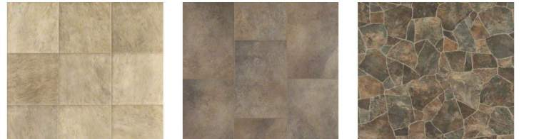 luxury vinyl flooring in stone square shape - vinyl tile in manufactured homes